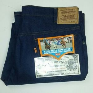Levis 38x31 Jeans Vintage Orange 517 Saddleman